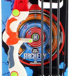 Luk dětský plastový 57cm set se 3 šípy s přísavkou na kartě