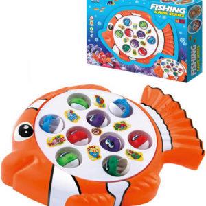 Hra Rybaření korálová ryba dětský rybolov na baterie set se 2 pruty v krabici Zvuk