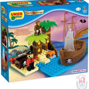 ANDRONI Unico Pirátský ostrov pokladů 37 dílků baby stavebnice v krabici