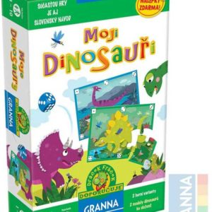 GRANNA Hra Moji Dinosauři bonus s nálepkami *SPOLEČENSKÉ HRY*