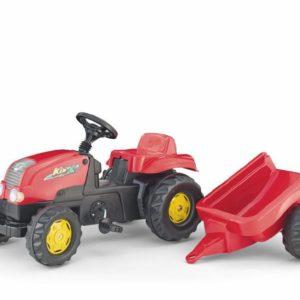 ROLLY TOYS Traktor šlapací s vlekem Kid s vlečkou červený