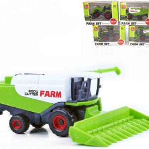 Kombajn / traktor kovový 8cm volný chod 4 druhy v krabičce