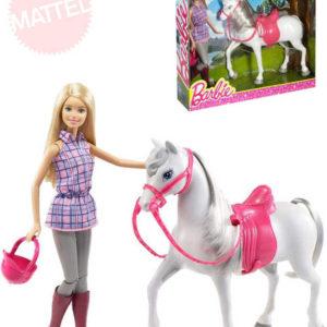 MATTEL BRB Panenka Barbie set žokejka s koníkem a doplňky plast