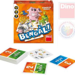 DINO Hra cestovní Bengál poznej zvířátko podle zvuku *SPOLEČENSKÉ HRY*