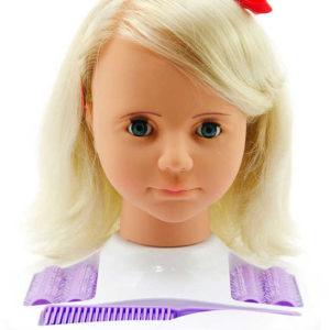 Hlava česací velká blond DMC