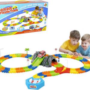 Dráha variabilní Go Go Flexile Track 144 dílků set s tunelem a autíčkem na baterie