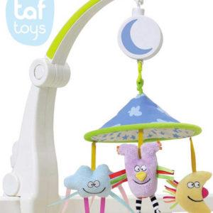 TAF TOYS Baby kolotoč na cesty natahovací s melodiemi pro miminko