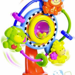 B-KIDS Baby kolotoč chrastící s přísavkou se zvířátky pro miminko plast