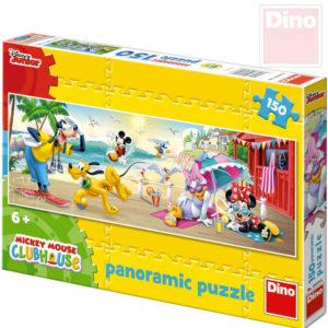 DINO Puzzle panoramatické 150 dílků Mickeyho letní radovánky 66x23cm skládačka