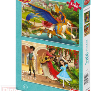 DINO Puzzle 2x66 dílků Elena z Avaloru 22x32,5cm skládačka 2v1 v krabici