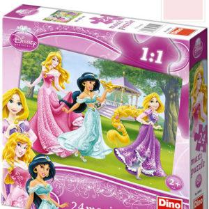 DINO Baby Puzzle 24 dílků Princezny maxi 66x47cm skládačka velké dílky