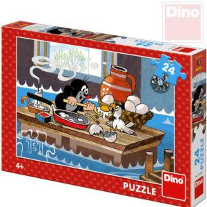 DINO Puzzle 24 dílků Krtek a orel (Krteček) 26x18cm skládačka v krabici