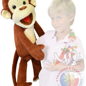 MORAVSKÁ ÚSTŘEDNA PLYŠ Maňásek Opice 80cm na ruku PLYŠOVÉ HRAČKY