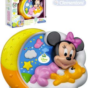 CLEMENTONI Baby projektor Minnie Mouse kouzelné hvězdy s melodiemi na baterie Zvuk
