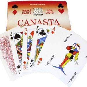 Hra Canasta hrací karty v papírové krabičce