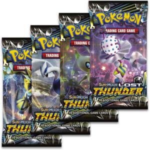 ADC HRA Karty doplňkové Pokémon SM8 Lost Thunder Booster 10 náhodných karet