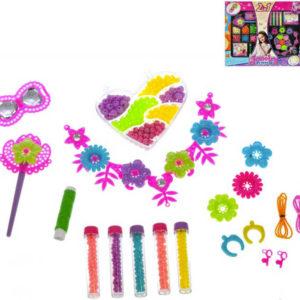 Korálky dětské kreativní set na výrobu šperků 2 druhy v krabičce