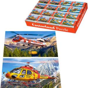 Minipuzzle Letadla 54 dílků 16,5x11cm skládačka v krabičce 4 druhy