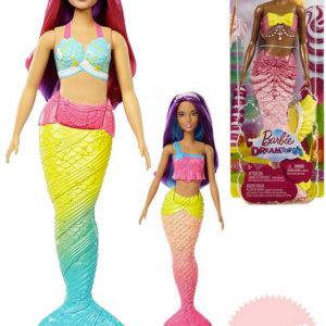 MATTEL BRB Panenka Barbie 30cm mořská panna 4 druhy v krabičce