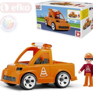 EFKO IGRÁČEK MultiGO Set auto vozidlo silniční údržby s cestářem STAVEBNICE