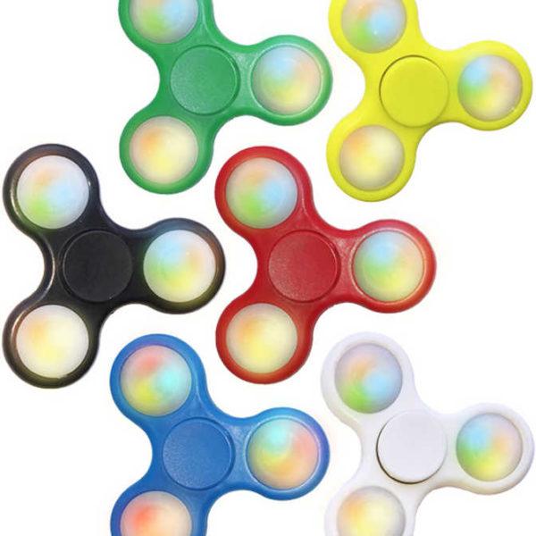 HRA Extrem Fidget Spinner 7,5cm svítící točítko na baterie Světlo