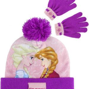 Rukavice + čepice s bambulí Frozen (Ledové Království) zimní set oblečení pro děti