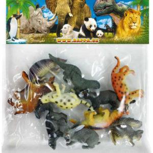 Zvířátka lesní plastová set 12ks figurky 3-6cm v sáčku