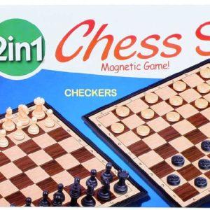 Hra Šachy a Dáma 2v1 skládací magnetické *SPOLEČENSKÉ HRY*