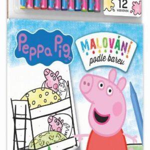 JIRI MODELS Malování podle barev Peppa Pig set s voskovkami