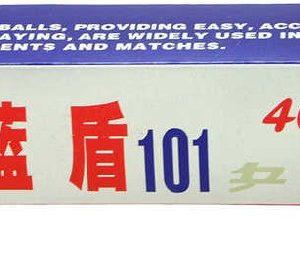 Míčky bílé na ping pong (stolní tenis) 4cm set 6ks v krabičce