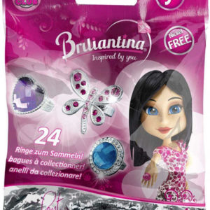 Prstýnek dětský Briliantina EXCELENT set s dárkovou krabičkou plast 24 druhů