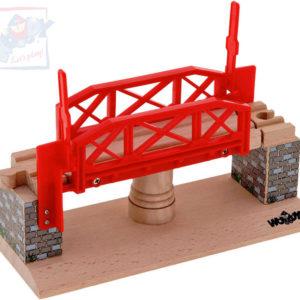 WOODY DŘEVO Otáčecí most doplněk k vláčkodráze DŘEVĚNÉ HRAČKY