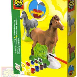 SES CREATIVE Koně kreativní set na odlévání z formy s temperami