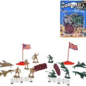 Vojáci figurka akční plastová se zbraní 4 armády / s letadly a doplňky 2 druhy