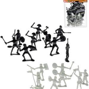 Rytířský set dvojbarevný figurka akční plastová se zbraní set 72ks v sáčku