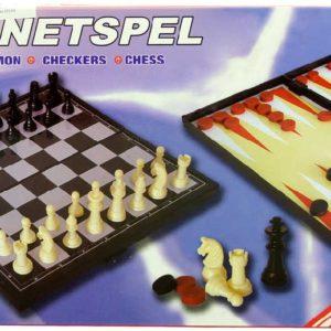 HRA Šachy, Dáma, Vrchcáby magnetické 3v1 *SPOLEČENSKÉ HRY*