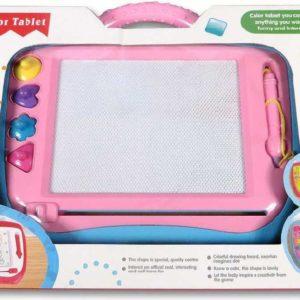 Tabulka dětská kreslící magnetická set s perem a razítky plast 2 barvy