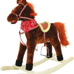 BINO Houpací koník (kůň) Goldy se zvukovými a pohybovými efekty Zvuk