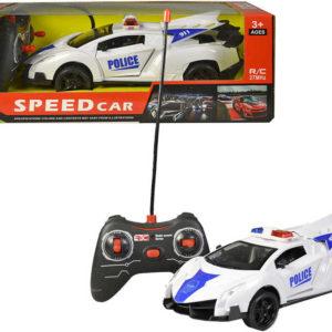 RC Auto policejní 23cm na vysílačku 1:18 na baterie 27MHz funkční dveře