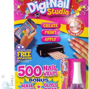 EP Line BO-PO Digi Nails Nehtové studio návrhářské set s lakem a samolepkami