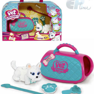 EP Line Pet Parade Set pejsek mazlíček s vodítkem s taštičkou a doplňky plast