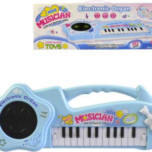 Piánko dětské elektronické varhany 42cm 22 kláves na baterie Světlo Zvuk