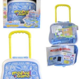 Souprava doktorská 26ks dětské lékařské potřeby v kufříku 56x23cm plast
