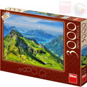DINO Puzzle 3000 dílků Švýcarsko 117x84cm skládačka v krabici