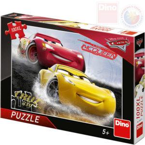 DINO Puzzle 100 dílků XL Aquaplaning Cars 3 (Auta) 47x33cm skládačka v krabici