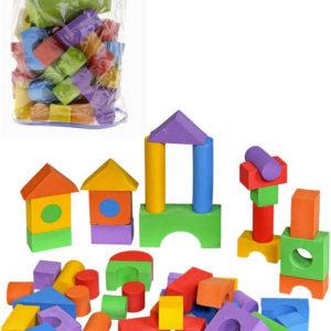 Baby kostky soft pěnové barevné set 100ks v igelitovém pytlíku pro miminko