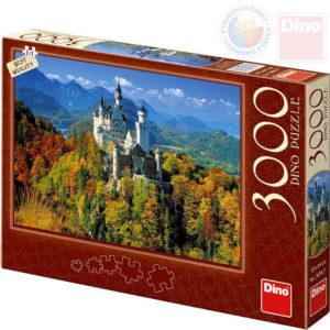 DINO Puzzle 3000 dílků Neuschwanstein 117x84cm skládačka v krabici