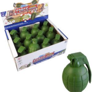 Granát vojenský zelený 9cm na baterie Světlo Zvuk