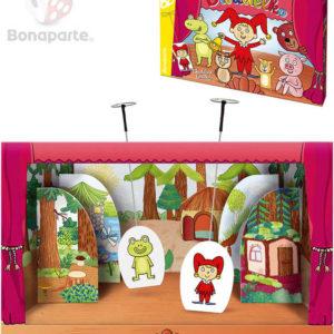 BONAPARTE Divadélko pohádkové loutkové papírové set 6 postav s pohádkami