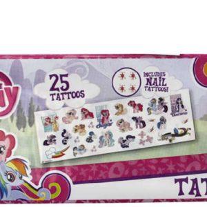 EP Line Tetování MLP My Little Pony start set 25 mini tetovaček na tělo a nehty